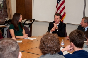 Meghan Mullen discusses politics with SF Mayor Gavin Newsom