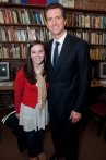 Mayor Newsom poses with Pacific Political Science student Julia Sweeney